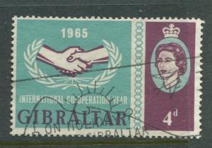 Gibraltar - Scott 170 - General Issue -1965 - FU - Single 4d Stamp