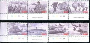ISLE OF MAN Sc#1028-1032 2004 D-Day Anniversary Complete Set & S/S Mint OG NH