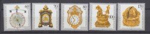 J29727, 1992 germany set mnh #b734-8 clocks