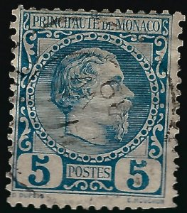 Monaco Scott #3 Used F-VF Typical creases SCV$35...French Colonies are hot!
