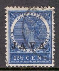 Netherlands Indies 1908  used  JAVA  12 1/2 ct   #