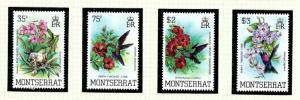 Montserrat 497-500 MNH 1983 Birds