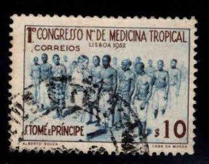 St. Thomas & Prince  Scott 356 Used 1952 Tropical Medicine stamp