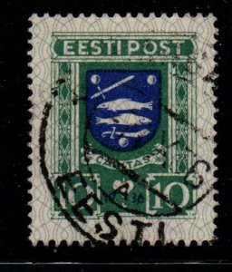 Estonia Sc B28 1936 Narva Coat of Arms Charity stamp used
