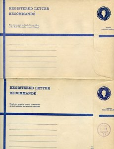 JERSEY LOT OF 11 OFFICIAL REGISTERED LETTER POSTAL ENVELOPES MINT & USED