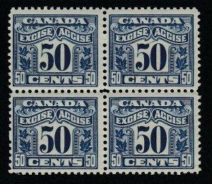Canada (Revenue) van Dam FX44, MNH block of four