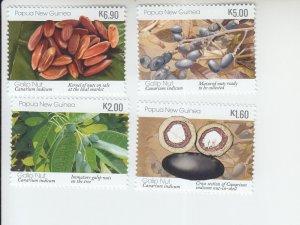 2019 Papua New Guinea Galip Nuts (4) (Scott NA) MNH