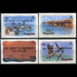 ANGUILLA 1985 - Scott# 640-3 Girl Guides Opt. Set of 4 NH