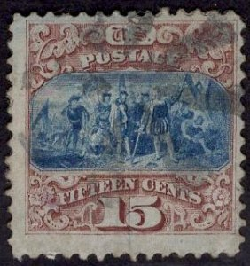 US Stamp #118 15c Pictorial  USED SCV $800
