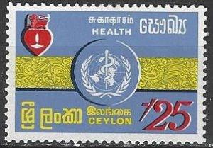 Ceylon  468  MNH  WHO  Heart Health 1972