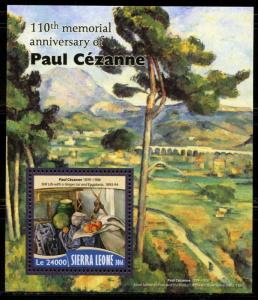 SIERRA LEONE 2016 110th MEMORIAL ANNIVERSARY OF PAUL CEZANNE S/SHEET MINT NH