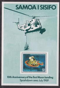 Samoa # 512a, Moon Landing 10th Anniversary, Souvenir Sheet, NH 1/2 Cat.