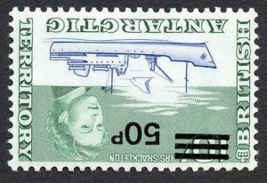 British Antarctic Territory SG37w 1971 50p on 10/- Wmk INVERTED U/M Scarce