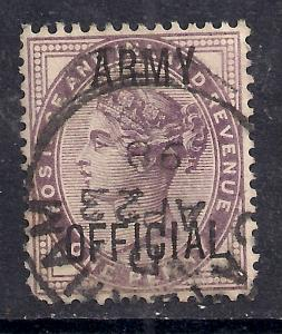 GB 1896 - 01 QV 1d Lilac Army official Ovpt SG O43 ( G695 )
