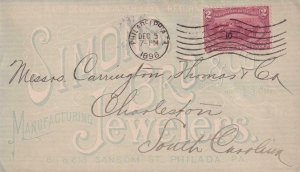 1898, Sc #286, Philadelphia, PA Cancel and Machine Cancel, See Remark (BR4057)