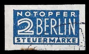 Germany 1948 Sc RA1 blue flea imperf uvf
