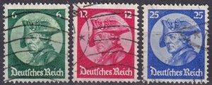 Germany #398-400  F-VF Used CV $22.80 (Z2570)