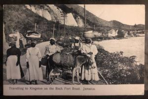 1912 Jamaica RPPC Postcard Cover To Albany NY USA Traveling To Kingston