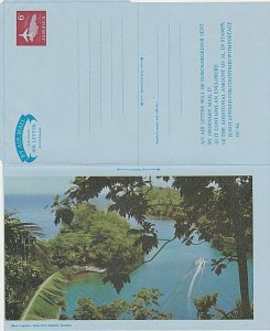 JAMAICA 6d Plane over Jamaica pictorial aerogramme unused...................L245