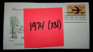 FDCs - 1974 COMMEM YEAR SET - x31 - see photo