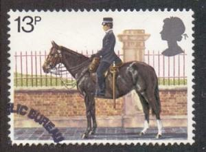 Great Britain 1979 used metropolian police 13p  mounted policewoman   #