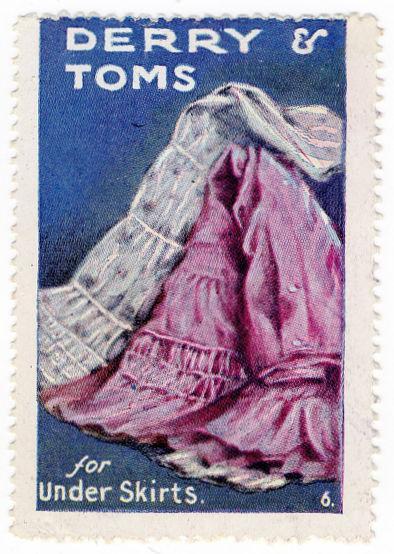 (I.B) Cinderella Collection : Derry & Toms Publicity Stamp (Under Skirts)