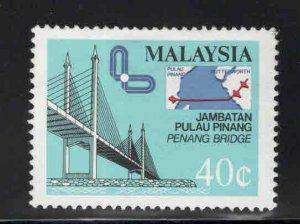 Malaysia Scott 312 Used bridge stamp
