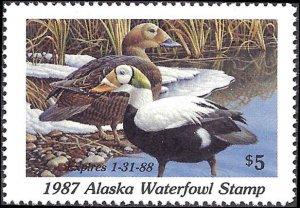 AK3 Mint,OG,NH... Alaska State Duck Stamp... SCV $10.00