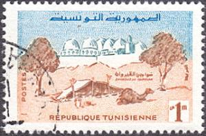 Tunisia # 339 used ~ 1m Camel Camp and Mosque