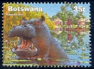 Hippo, Wetland Fauna, Botswana stamp SC#705 used
