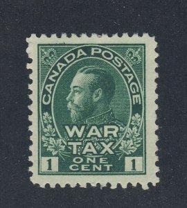 Canada Admiral War Tax Stamp; #MR1-1c, MHR VF. Guide Value = $40.00.