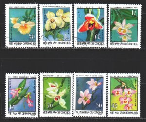Vietnam. 1976. 857-64. Orchids, flowers, flora. USED.