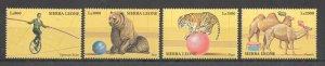 Z0271 SIERRA LEONE WILD ANIMALS FAUNA CIRCUS 1SET MNH