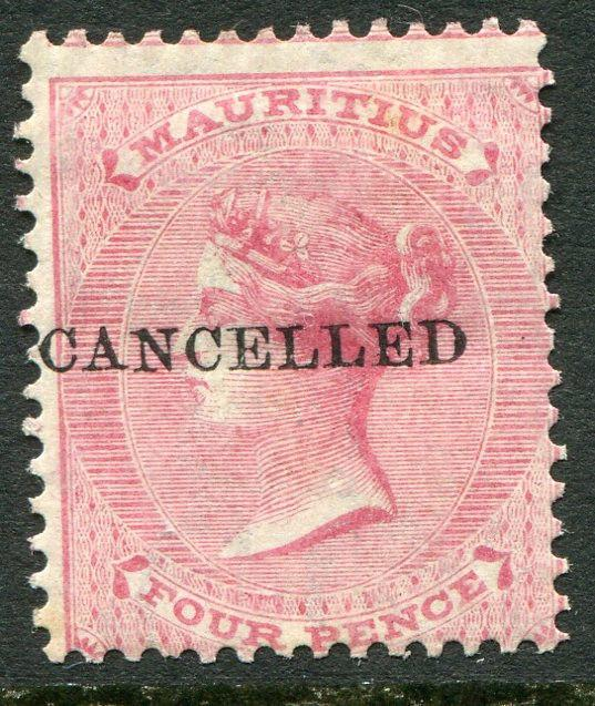 MAURITIUS ~ #35 Very Nice Mint Light Hinged Issue CANCELLED OVERPRINT ~ S5478