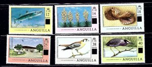 Anguilla 337-42 MNH 1979 surcharges