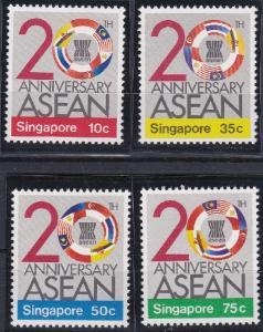 Singapore 502-505 MNH (1987)