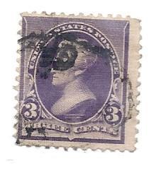 US#221 $0.03 Jackson Purple  (U) CV $9.00