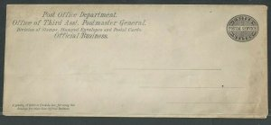 Ca 1880 Official Post Office Mint Entire For Use By Philatelic Division Size 25