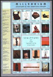 Saint Vincent and the Grenadines. 1999. ml 4726-42. Millennium, sculptures, d...