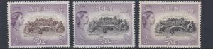 ADEN    1953 - 63    S G  71 + 72 + 72A       3 X  £1  VALUES    MNH  CAT £160