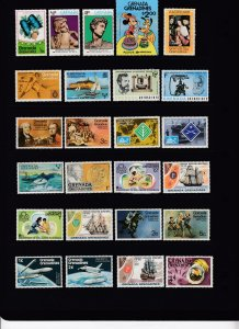 GRENADA GRENADINES -  45 Different - Topicals - 5 Cents Each