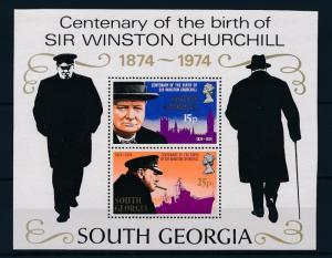 [36516] South Georgia 1974 Winston Churchill Souvenir Sheet MNH