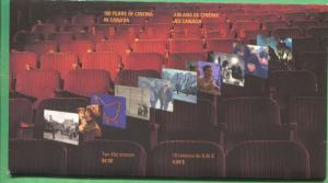 Unopened 100 Years of Cinema in Canada Souvenir Stamp Sheet Booklet Sc#1650-1651
