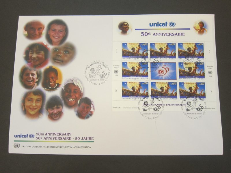 United Nations (Geneva) 1996 Sc 294-5 FDC