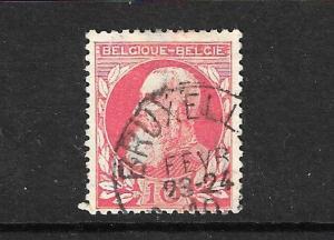 BELGIUM 1905-08 10c BRIGHT ROSE  FU SG99a CV400gbp