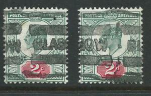 Great Britain - Edward VII SG 226 - 2 copies heavy parcel cancel