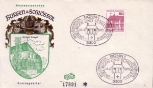 German FDC Sc.# 1311 Rheydt Castle L373