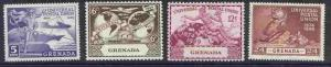 Grenada 147-50 MNH UPU, Ship, Aircraft, Map