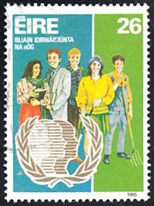 Ireland # 625 used ~ 26p Int'l Youth Year