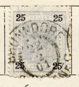 Austria 1899 Early Issue Fine Used 25h. NW-11517